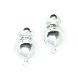 4118.AG kinitro κίνητρο εξαρτήματα κοσμημάτων ασημένια εξαρτήματα κοσμημάτων χονδρική λιανική κλιπ σκουλαρίκια