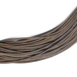 LEATHER.BROWNMAT Ag925 kinitro κίνητρο εξαρτήματα κοσμημάτων ασημένια εξαρτήματα κοσμημάτων χονδρική λιανική δέρμα κορδόνι