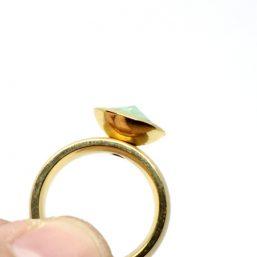 Ag925 kinitro κίνητρο εξαρτήματα κοσμημάτων ασημένια εξαρτήματα κοσμημάτων χονδρική λιανική ατσάλινα δαχτυλίδια ατσάλινο δαχτυλίδι με Swarovski