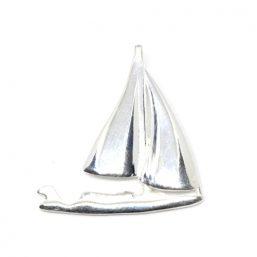 AS.7877.AG Ag925 kinitro κίνητρο εξαρτήματα κοσμημάτων ασημένια υλικά για κοσμήματα χονδρική λιανική μοτίφ διακοσμητικά στοιχεία καράβι θάλασσα καλοκαιρινό