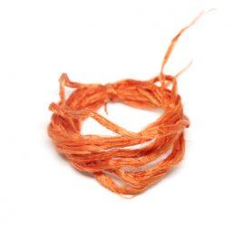 SILK.UNPROC.ORANGE Ag925 kinitro κίνητρο εξαρτήματα κοσμημάτων ασημένια υλικά για κοσμήματα χονδρική λιανική μεταξωτά κορδόνια μεταξωτό κορδόνι ανεπεξέργαστο