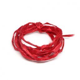 SILK.UNPROC.RED Ag925 kinitro κίνητρο εξαρτήματα κοσμημάτων ασημένια υλικά για κοσμήματα χονδρική λιανική μεταξωτά κορδόνια μεταξωτό κορδόνι ανεπεξέργαστο